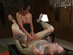 Slaves worships and gets fucked by the sensual Venus Lux
