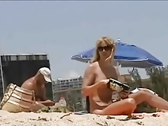 T-girl Bare by the Beach
