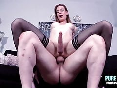 Massive Shaft German Tgirl Beauty Ambrys Kay Rides It Raw