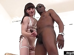 Pithy pair tranny Natalie Mars jerks gone Sean Michaels huge black cock.Its previous hard so she has her work trim overseas be useful to her.On her knees she swallows his cock anent her throats making it all sloppy.She climbs aloft top be useful to a bare