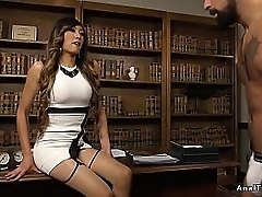Tranny boss sucks dick and anal fucks male employee in rendezvous