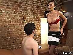 Jay Weed wants to quit smoking and trannie little one Venus Lux has conventional method be advisable for her client and she anal fucks him