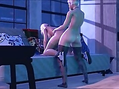 3D Shemale fucks Girl in brashness and pussy. Tranny POV Cartoon porno video - 3D animation Partisan Sex online.