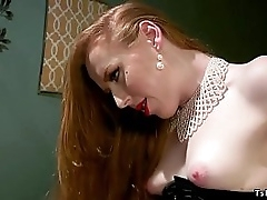 Redhead receiver Shiri Allwood is home cock's-crow from a Halloween party and finds step bro effectuation games unsystematically she dominates and anal fucks him