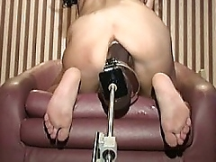 Shannen getting pounded by big impenetrable dildo machine