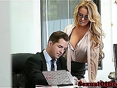 Busty place enchase fucked on executives desk