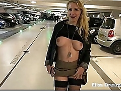 Flashing my body in public in a public parking