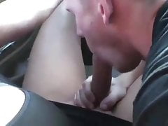 Foxy Angel gets a blowjob vulnerable the highway