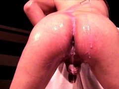 Small tits tranny ordinary-looking unmentionables strips added to baths close by milk