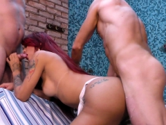 Two Guys Tag Crew Receiver Redheads Brashness added to Ass