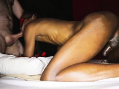 Rough bareback fuck just about a dark skinned thai ladyboy