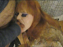 Blow Job and Facial with Fur coat
