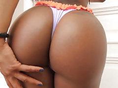Amazing  booty shemale fellate and fuck  boy